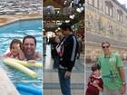 Pais dão dicas sobre viagens com crianças  (Arquivo pessoal/Marcio Nel Cimatti;Luciano Beux;Alessandro Aires)