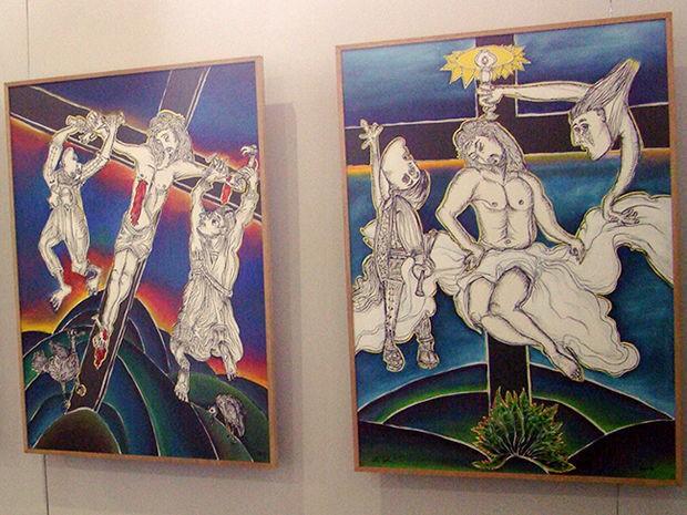 Exposição no Museu de Arte Sacra, em Cuiabá. (Foto: Assessoria)