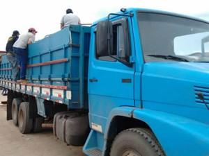 Caminhão onde a droga estava sendo transportada na Bahia. (Foto: Magnum Favretto/ Blog Sigi Vilares)
