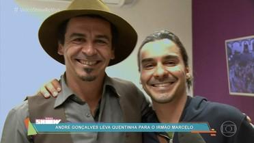 André Gonçalves leva marmita para o irmão Marcelo