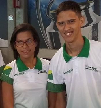 Alef Fernandes, Rebeca Campos e Lucas Damasceno, atletas acreanos paralímpicos (Foto: Geison Moraes/arquivo pessoal)