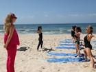 Bárbara Paz conta sobre yoga: 'Chorei muito na primeira vez que pratiquei'