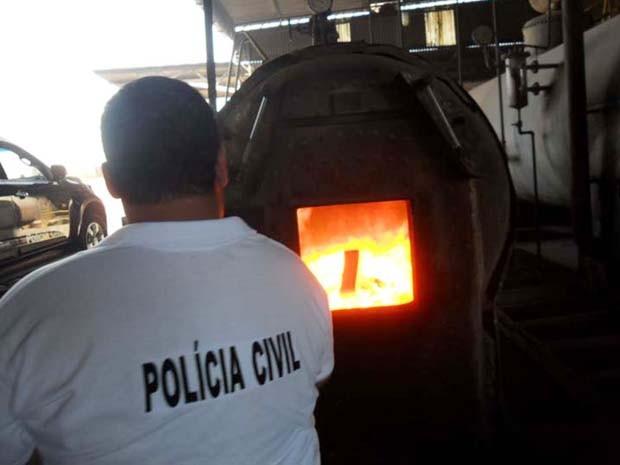 Drogas foram destruídas durante a manhã desta terça-feira (9) (Foto: Polícia Civil/ Divulgação)