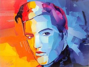 Elvis Presley retratado por Nael Campos (Foto: Nael Campos/ Reprodução)