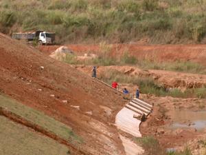 Piscinã comportará 500 milhões de litros de água (Foto: Eder Ribeiro/EPTV)