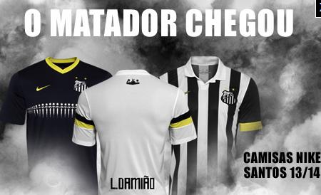 Santos inicia venda de camisas com nome do  matador  Leandro Damião ... 1e7b0a98ec6c9