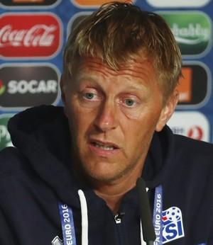Heimir Hallgrimsson técnico Islândia (Foto: Getty Images)