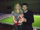 Shakira leva o filho ao estádio do Barcelona