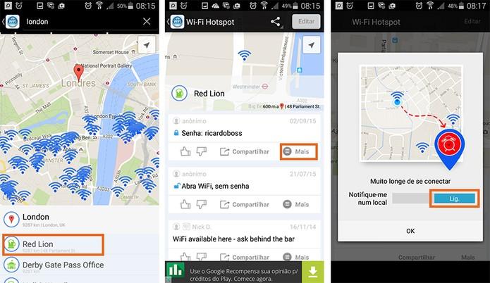 Ative notificações para quando estiver próximo a rede Wi-Fi (Foto: Reprodução/Barbara Mannara)