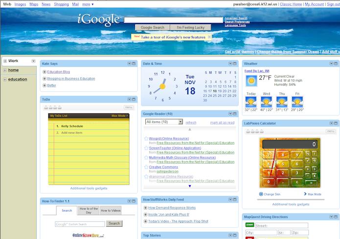 iGoogle teve fim em 2013 (Foto: Divulgação)