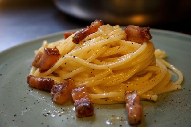 Espaguete a carbonora (Foto: André Lima de Luca)