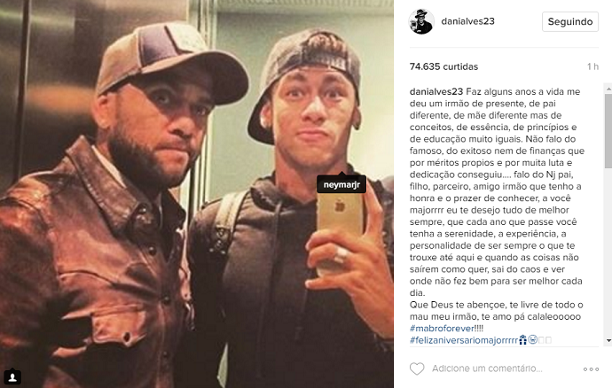 Neymar aniversário Daniel Alves