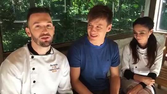Claudia Ohana e Diego Hypolito pedem votos em papo com Felipe Suhre