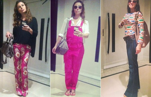 Looks de Giovanna Antonelli postados pela atriz no Instagram (Foto: Reproduo Instagram)