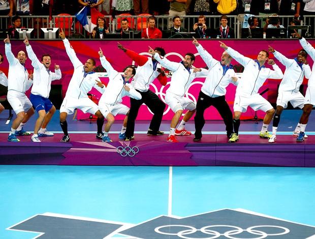 França comemoração handebol olimpíadas (Foto: Reuters)