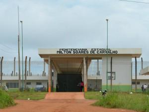 Penitenciária Estadual Milton Soares de Carvalho, em Porto Velho (Foto: Hosana Morais/G1)