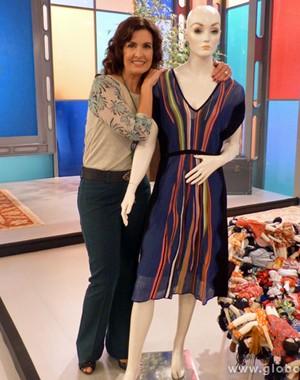 Fátima_vestido (Foto: Encontro com Fátima Bernardes/TV Globo)