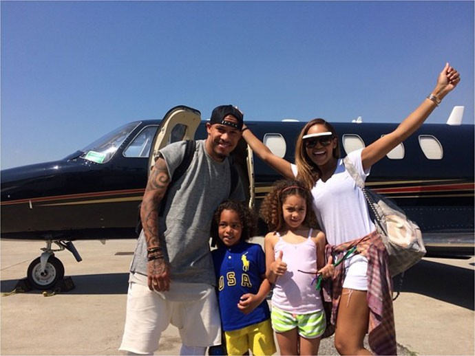 De Jong viaja de férias com a família (Foto: Reprodução / Instagram)