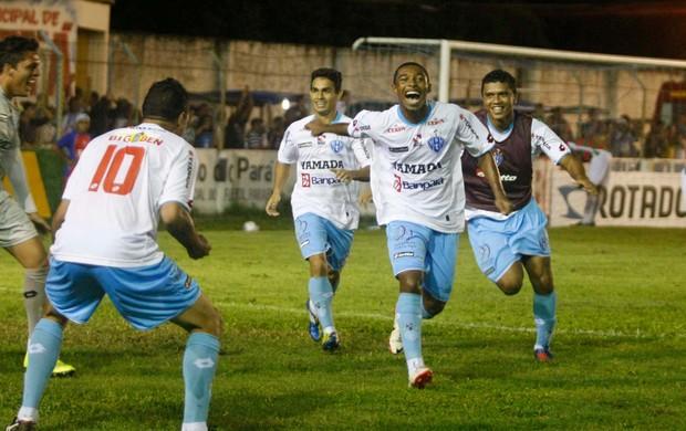Djalma fez o gol da vitória do Paysandu contra o Cametá, na 5ª rodada do Parazão 2013 (Foto: Marcelo Seabra/O Liberal)