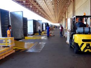 Terminal de cargas do aeroporto de Viracopos em Campinas (Foto: Isabela Leite / G1)
