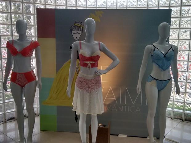 Lançamento de tendências de moda em lingerie (Foto: Gabriela Alves/G1 CE)