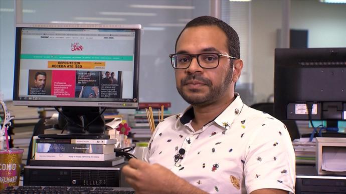 Jornalista Jorge Gauthier fala de luta contra o preconceito na Bahia (Foto: TV Bahia)