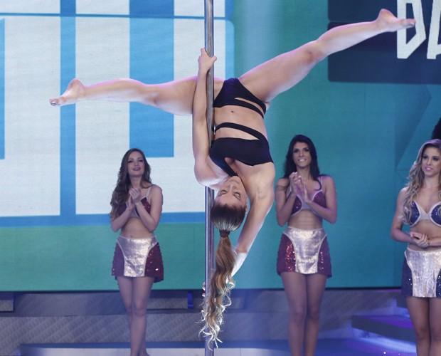 Uau! Quanta flexibilidade! (Foto: Inácio Moraes / Gshow)