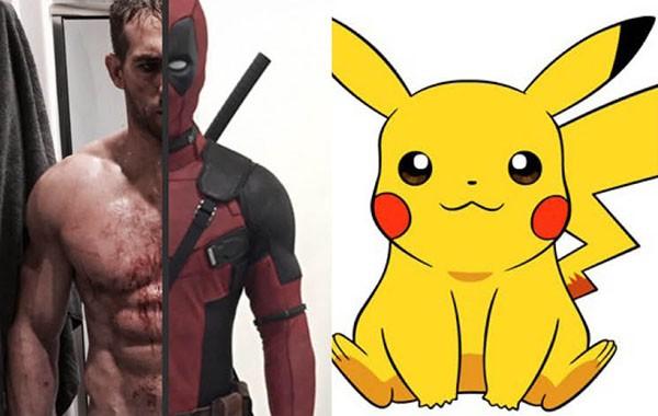 Ryan Reynols como Deadpool / Pikachu (Foto: Reprodução)