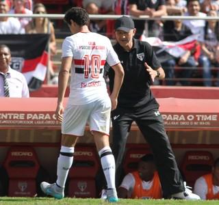Ganso e Osorio São Paulo Coritiba (Foto: Agência Estado)