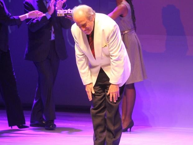 Ary Fontoura em prêmio de teatro na Zona Norte do Rio (Foto: Anderson Borde/ Ag. News)