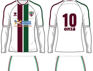 Modelo 2 do uniforme do CSE para 2016 (Foto: Divulgação / Assessoria CSE)