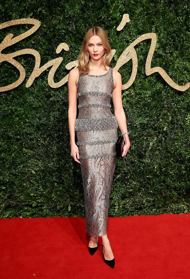 Karlie Kloss no British Fashion Awards (Foto: Getty Images)