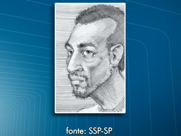 Secretaria de Segurança Pública divulgou retrato falado do suspeito de atacar mulheres com seringa (Foto: TV Globo/Reprodução)