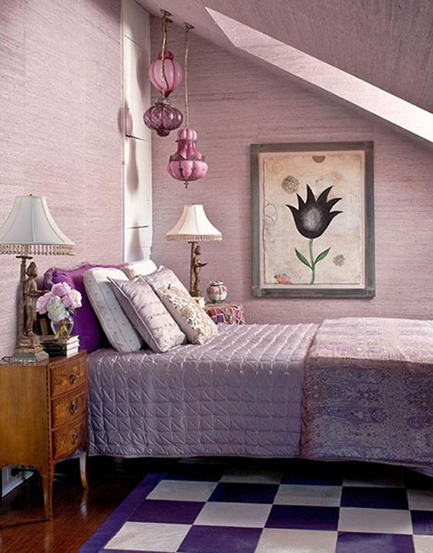 15 quartos incr veis decorados com roxo e lil s casa for Room kabat design