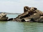 'Atlântida do Sertão' vira atração no fundo da maior barragem do RN