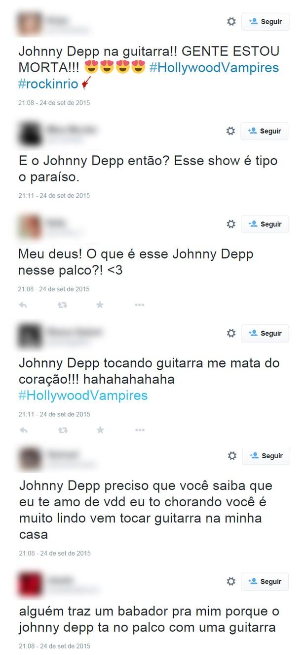 Fãs comentam performance de Johnny Depp no Rock in Rio (Foto: Reprodução / Twitter)