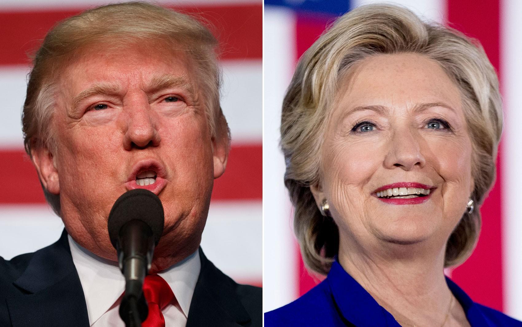 NÃO USAR ESTA FOTO    Donald Trump em Golden, Colorado, no dia 29 de outubro, e Hillary Clinton em Las Vegas, Nevada, em 2 de novembro  (Foto: AP Photo/Evan Vucci/Andrew Harnik)