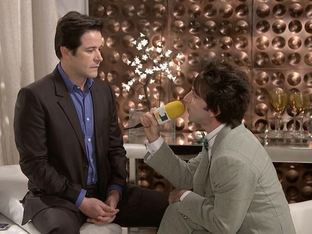 Jonas Marra fala com Shin-Soo sobre transumanismo (Foto: Parker TV)