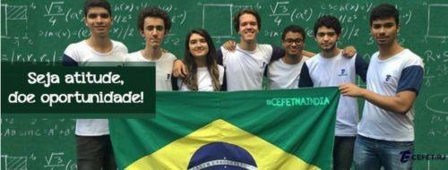 Os alunos fazem campanha na internet