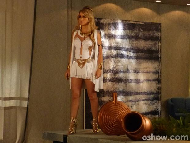 CABUNGA!!!!  Princesa Shedal ressurge como num passe de mágica (Foto: Geração Brasil/TV Globo)