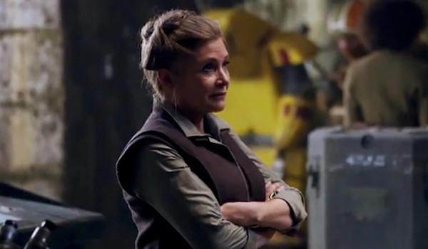 A atriz Carrie Fisher no papel da General Leia Organa em 'Star Wars: Episódio VII - O Despertar da Força' (2015) (Foto: Reprodução)