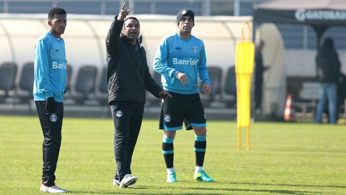 Jaílson Roger Machado Maicon Grêmio (Foto: Lucas Uebel/Grêmio)