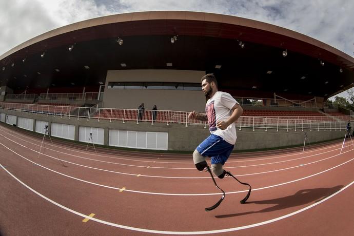 Primeiro treino oficial da Seleção Brasileira de Atletismo no CT Paralímpico (Foto: Daniel Zappe / CPB)
