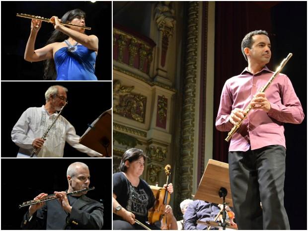 Festival contou com os solos do sueco Michel Bellavance, da chilena Viviana Guzmán e do brasileiro Toninho Carrasqueira. (Foto: Tiago Melo/G1 AM)