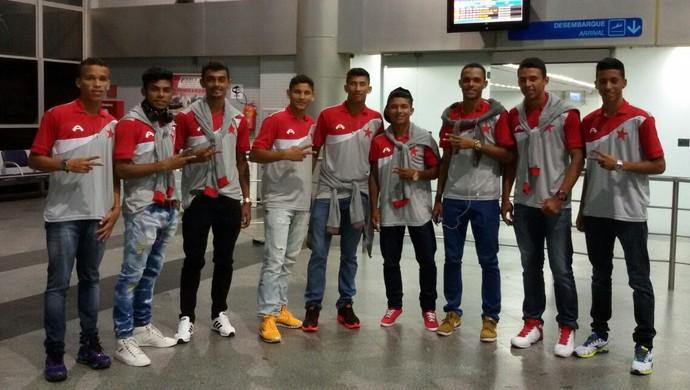 Parte dos jogadores do Rio Branco que vai disputar a Copa São Paulo 2015 (Foto: Arquivo pessoal)