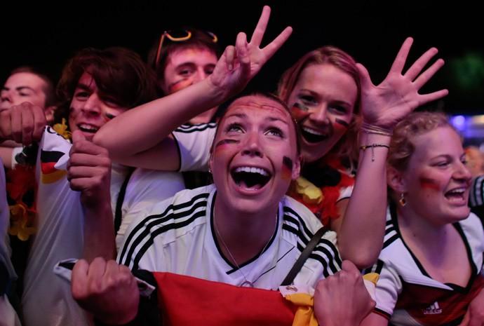 Alemães celebram vitória em Berlim