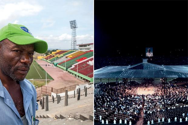 Tata Raphael hoje (2014) e em 1974 (Foto: Yan Boechat/ Neil Leifer )
