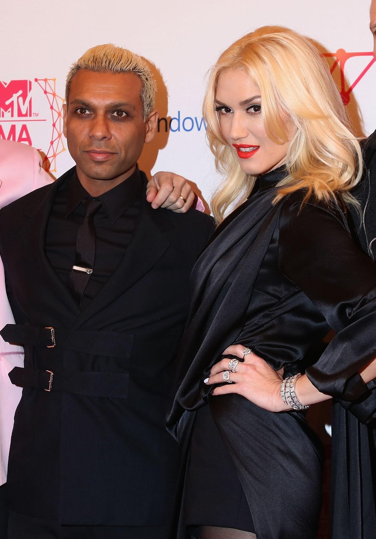 Foi um longo caminho para Gwen Stefani tornar o No Doubt um sucessso. Ela é a vocalista do grupo e Tony Kanal é o baixista. Eles terminaram a relação pouco antes de estourarem no mundo. Apesar de estarem separados, os dois souberam trabalhar juntos e produziram diversos sucessos, como 'Don´t Speak' e 'Simple Kind of Life'. (Foto: Getty Images)
