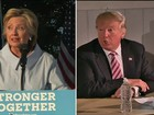 Pesquisas mostram equilíbrio entre Hillary e Trump nas intenções de voto