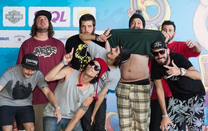 A banda VigariZtas abriu os shows do palco João Rock em Ribeirão Preto, SP (Foto: Érico Andrade/Gshow)